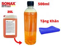 Nước Rửa Xe Sonax 500ml Đậm Đặc Chiết Từ Bình 25l Tặng Khăn