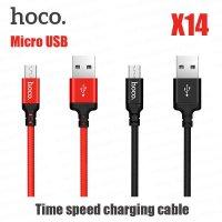 Cáp Sạc Micro Hoco X14, Hỗ Trợ Sạc Nhanh, Truyền Dữ Liệu Dành Cho Android, Dài 1M - MSN6388006