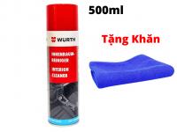 Dung Dịch Vệ Sinh Nội Thất Xe Hoạt Tính Wurth Interior Cleaner 500ml Tặng Khăn